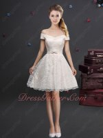 Cheap Price Wholesale Short Bowing Lace Skirt For 2019 Dama Wear