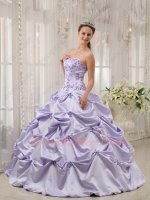 Elegant Strapless Lavender Embroidery Quinceanera Ball Gown Better Quality Than Amazon