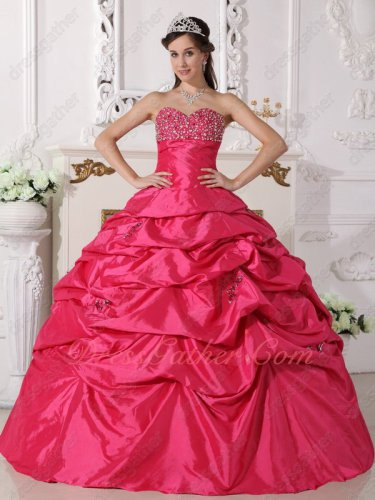 Junoesque Hot Pink Beading Chest Corset Quinceanera Ball Gown New Mexico