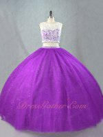 Smooth Skirt Lace Inside Two Pieces Regency Quinceanera Ceremony Ball Dresses Boutique