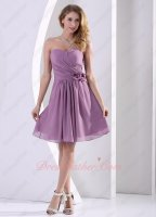 Clematis Raisin Dust Lilac Chiffon Bridesmaid Dress Summer Daytime Party Vivacious