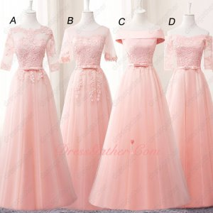 Most Popular Color Blush Series Bridesmaids Group Cheap Unit Price