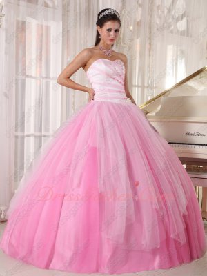 Lovely Pink Girls Prefer Color Tulle NM Quinceanera Ball Gown Simple But Beautiful