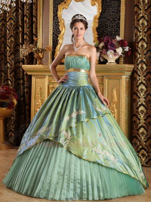 Mixed Olives/Celadon Army Green Adult Ceremony Quinceanera Ball Gown Princess