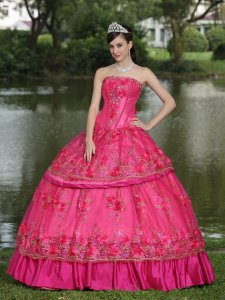 Fuchsia Taffeta Lolita/Palace Quinceanera Ball Gown Women Wear Special Occasion