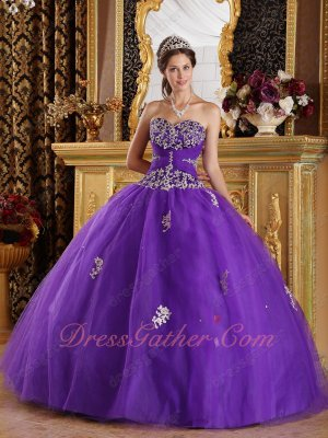 Blue Purple Many Layers Mesh Ball Dress 15th Birthday Quinceanera Excellent Choice