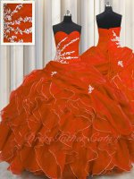 Designer Recommend Fashion Ruffles Scarlet Silver Details Girls Dance Ball Gown Quince