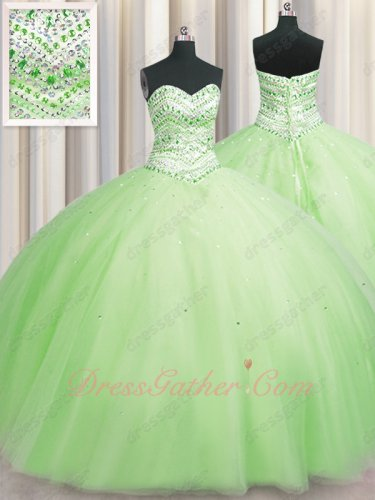 Picture of Real Products Lime Green Princess Puffy Quinceanera Ball Gown Crinoline