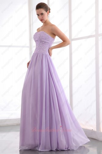 Sweetheart Lilac Formal Party Prom Dress Full Beading Top/Soft Chiffon Bottom