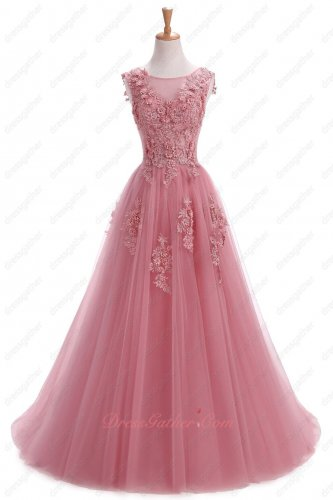 Flattering Dark Rose Pink Brush Train Carnival Formal Evening Dress Boutique Online