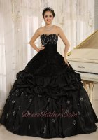 Girdle Bodice Black Military Gothic Ball Gown Silver Five-pointed Stars Embroidery