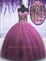 Mauve Plum Purple Designer Sample Products Girl First Quinceanera Dresses Clearance