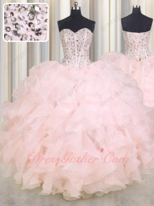 Blush Pink Sweetheart Lines Bodice Junior Quinceanera Celebrity Ball Gown Online Cheap