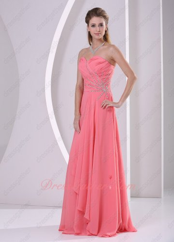 Cheap Watermelon Formal Evening Prom Dress On Sale Website Amazon Hot Seller Style