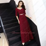 New Product Half Sleeves Leaf Belt Decorate Celebrities Debutante Night Club Dress
