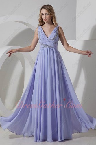 Lavender Chiffon Soft Ruching A-line For Dancing Formal Dresses For Juniors
