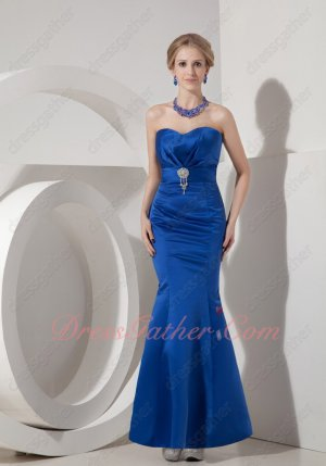 Sexy Royal Blue Package Hips Trumpet Prom Evening Dress Slender Good Figure Lady