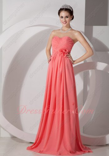 Hand Made Flowers Watermelon 2020 Wedding Bridesmaid Dress Supplier Online Directly
