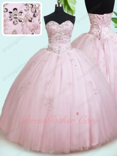 Nifty Baby Pink Girls Most Chose Color Sweet 16 Quinceanera Ball Gown Underskirt