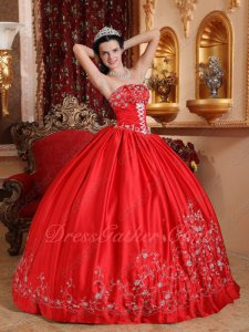 Eligible Women Embroidery Strapless Designer Puffy Quinceanera Ceremony Outfits