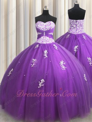 Dark Orchid Regency Multilayers Tulle Quinceanera Ball Gown Teenage Girl Runway Pageant
