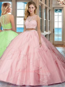 Princess Infanta Pink 2 Pieces Detached 2019 New Arrival Updated Quinceanera Ball Gown