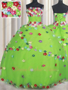 Colorful Floret T-Stage Quinceanera Ball Gown Spring Green The Flower Child Lunlun