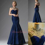 Junoesque See-Through Crystals High Collar Navy Lace Mermaid Wine Party Dress
