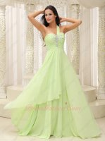 Single Strap Fresh Pale Mint Green Chiffon Current Formal Gowns Carnival