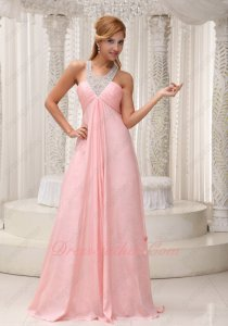 Cross Back Beaded Straps Blush Nice Color Formal Dress Red Carpet Show High Quality