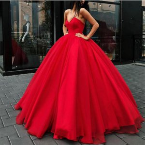 Classical Style Scarlet Red Sweetheart Puffy Ball Gown For Young Girls Quinceanera Gift