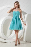 Wedding First Choice Simple Sweetheart Jade Chiffon Bridesmaid Dress Pretty