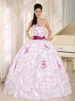 Princess White Military Ball Gown With Regency Embroidery/Curly Edge Parent Gift