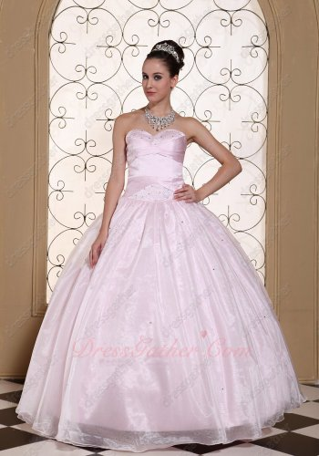 Lovely Girl's First Quinceanera Ball Gown Palest Baby Pink Physical Store