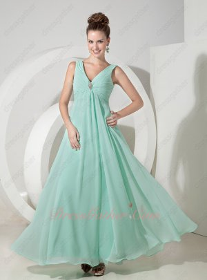 Fashion Color Mint Green Chiffon Junior First Party Choice Formal Dress Designer