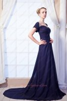 Steelblue/Navy Decent Short Sleeves Prom/Evening Dress Women Clothing