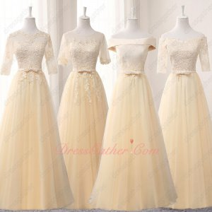 Cheap Team-Buying Price Floor Length Daffodil Bridesmaid 5 Stars Product