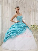 Flat Pure White Mesh Skirt Open Taffeta Bubble Overlay Allure Ball Gown 16