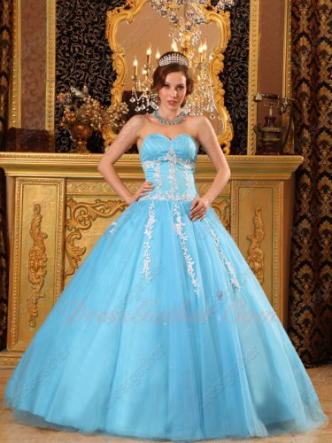 Waist Shaped Aqua Blue Quinceanera Lady Ball Gown Consult Surprise For Discount Coupon