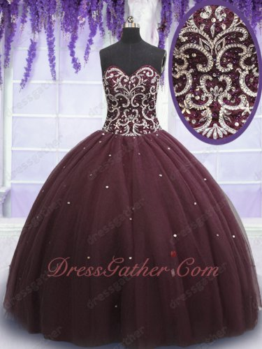 Multilayer Tulle Round Cake Skirt Burgundy Quinceanera Gown Can Wear Petticoat