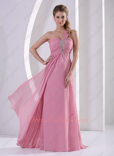Vogue One Shoulder Dust Rose Pink Carnival Evening Dress Top Ranking