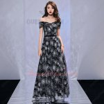 Wrapped Shoulder Sparkle Dandelion Radiate Navy Midnight Blue Evening Gowns Discount