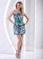 Glamorous Sparkling Multicolor Quadrate Paillette Special Occasion Dress Night Club