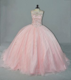 Sweetheart Blush Designer Sweep Train Quinceanera Gown Products Factory Photos No PS