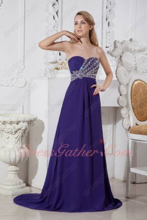 Look Slim Sweetheart Strip Crystals Blue Violet Evening Dress Online Factory Shop
