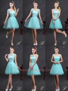Series Vestidos De Dama Dress Lace Short Skirt With Tulle Apple Green