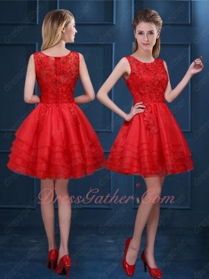 Scarlet Lightness Mini Tulle Skirt With Lace Uppper Part Cheap