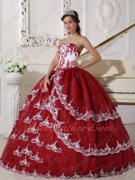 Lolita/Court Style Wine Red/White Vintage Quince Military Gown With Lacework