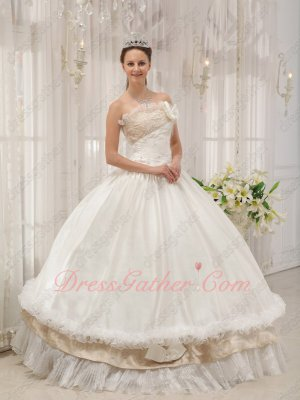 Wholesale Off White/Champagne Bar Mitzvah Quinceanera Court Ball Gown Latin