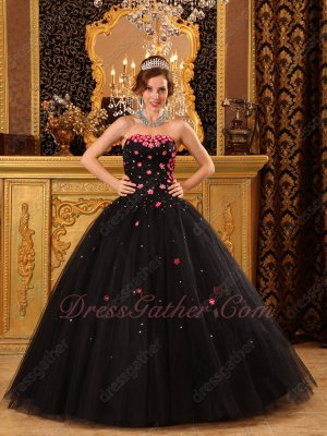 Strapless Black Tulle Prom Ball Gown Buy Adult One Get Child Same Style One Free